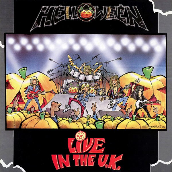 Helloween Live in the UK - album artwork - 1989