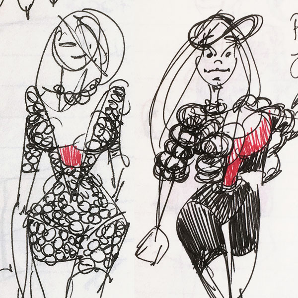Sketches for Marlboro Hostesses & Packaging